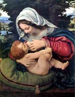 Mary breastfeeding Jesus