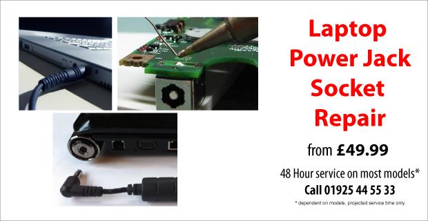 Laptop Power Jack Socket Repair in Warrington