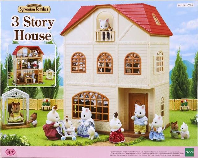 Hộp sản phẩm Bộ đồ chơi biệt thự 3 tầng Sylvania