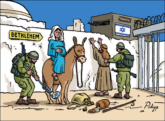 Happy Christmas, O prisoners of the Little Town of Bethlehem