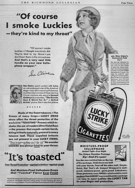 Cigarette Advertising in the 1930′s – Early Years | Fit To Print
