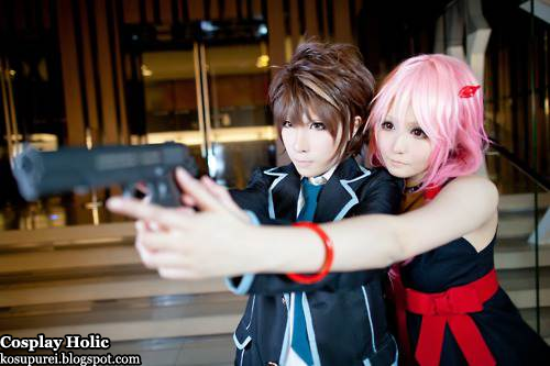 guilty crown cosplay - ouma shu and yuzuriha inori