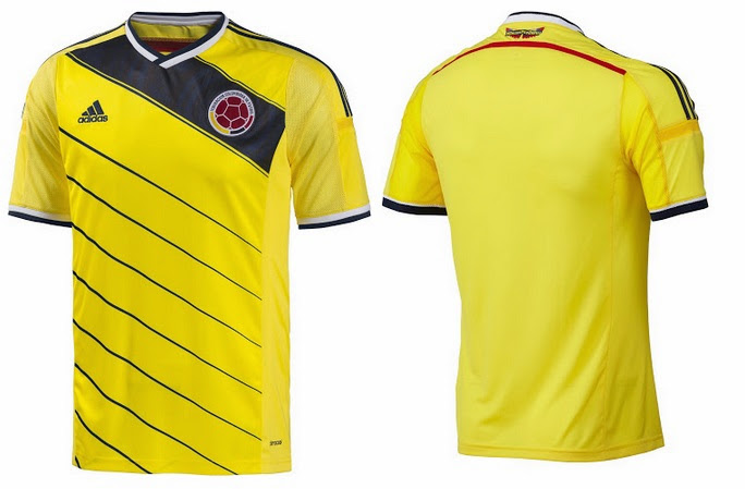 Adidas New Columbia Kit 2014 FIFA World Cup has been leaked and below is  the picture of the kit which will be presented officialy in November once  Columbia ... 5f758780a
