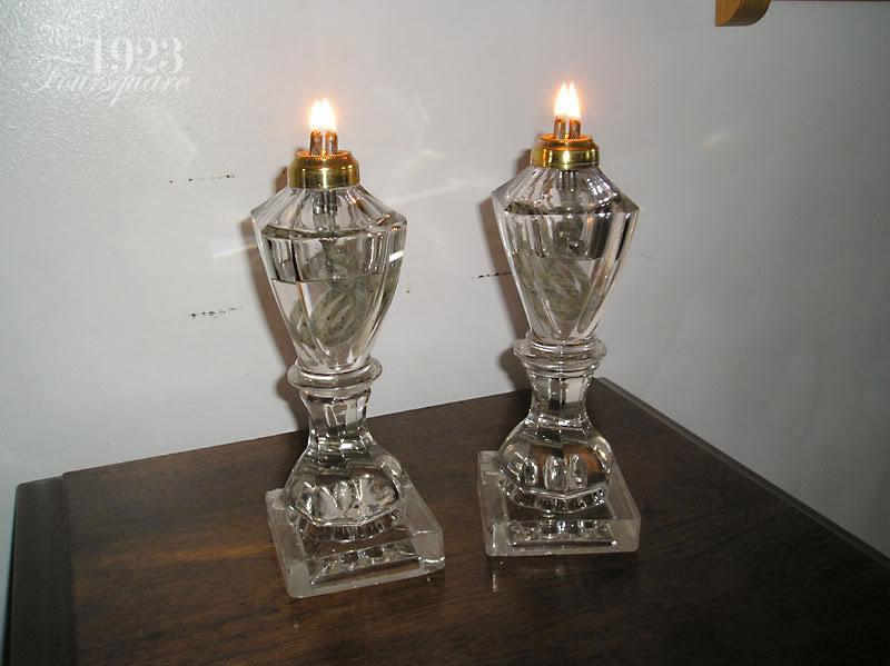 Sperm whale oil lamps