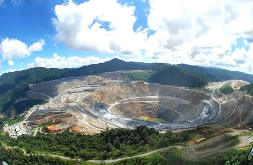 Gold and copper mining area in Papua