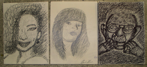 Scribble Drawing Lesson Plan : Scribble portraits lesson plan art education daily