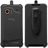 Cellet Black Rubberized Elite Holster For HTC Droid Incredible