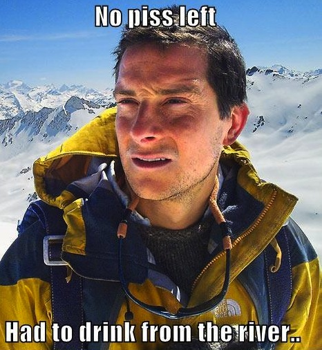 If you don't watch Man vs. Wild, you won't' get this