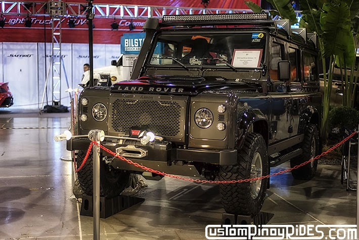 Some of the Best Modified 4x4s of 2013 Manila Auto Salon Custom Pinoy Rides Car Photography Philippines Philip Aragones Land Rover Defender 110