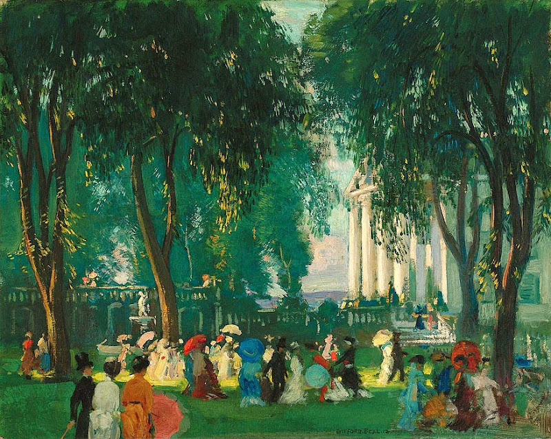 Gifford Beal - Reception in a Park, 1912
