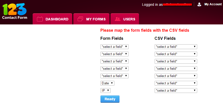 123FormBuilder Mapping CSV file with form