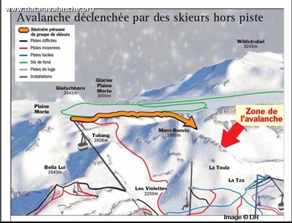 Avalanche Valais, secteur Mont Bonvin, Combe des Faverges - Photo 1