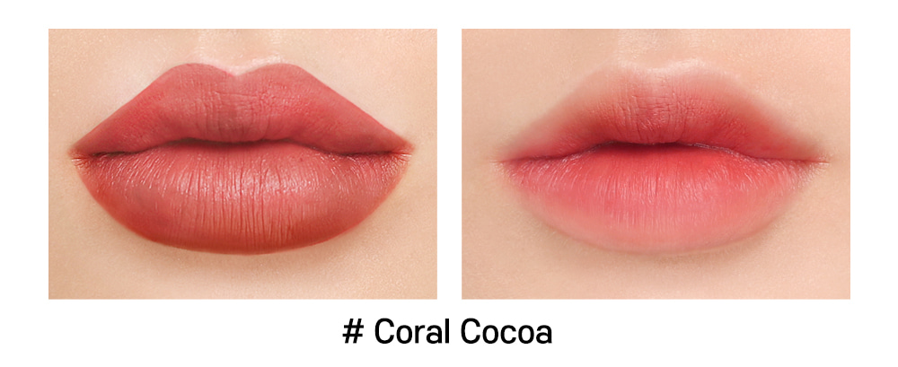 Son INGA Flat Liquid Lipstick Coral Cocoa