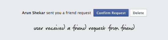 Friend Request System Database Design.