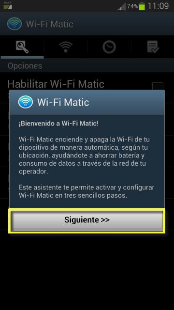 MANUAL WI-FI MATIC (Gestión automática ON/OFF del Wi-Fi