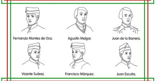 Pinto Dibujos Niños Héroes Dibujo Para Colorear Con Nombres