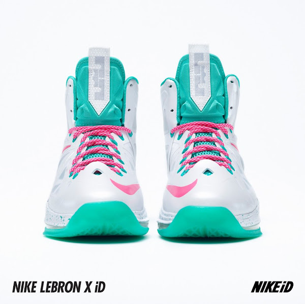 Two LeBron X iD Samples WhiteTealPink 038 USA Alternate