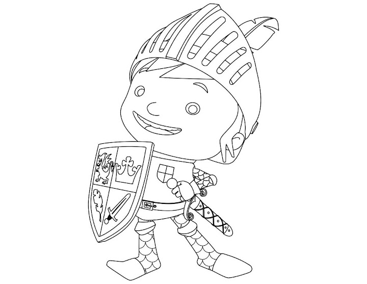 Mike The Knight Coloring Pages Coloring Pages Gallery
