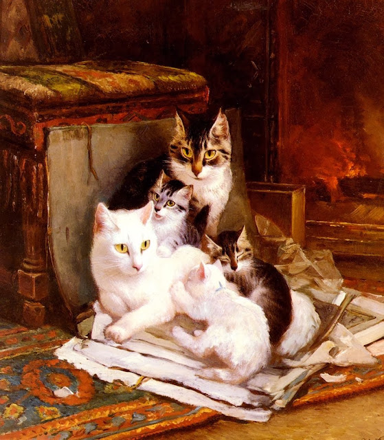 Henriette Ronner-Knip - The Happy Litter