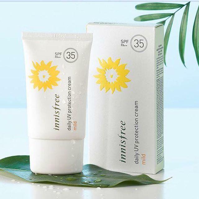 Kem chống nắng Innisfree Daily Cream Mild