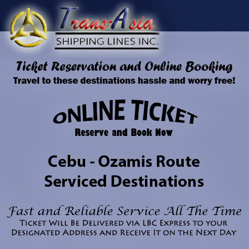 Trans-Asia Shipping Cebu-Ozamis Route Ticket Reservation and Online Booking