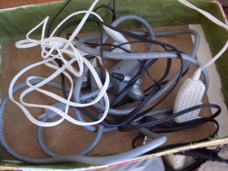 como organizar fios - customizando com papelão