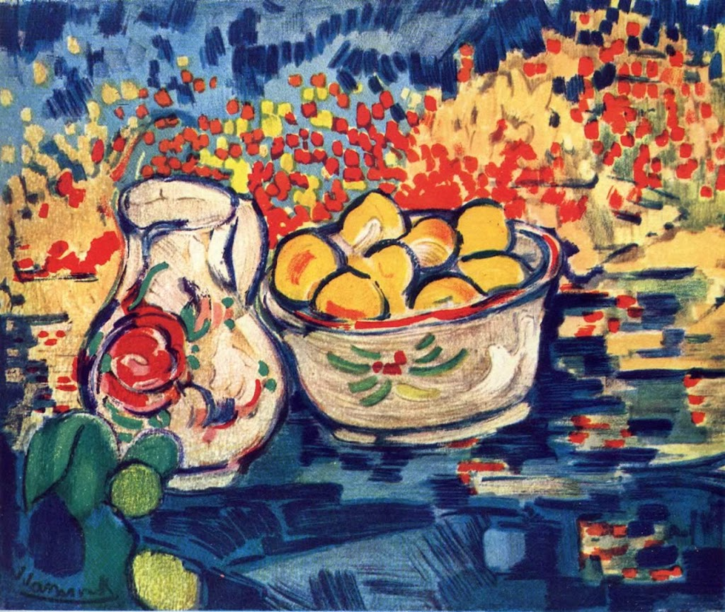 Maurice de Vlaminck - Still Life With Jug And Lemons