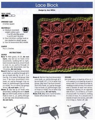 ponto de crochê peruano com gráfico