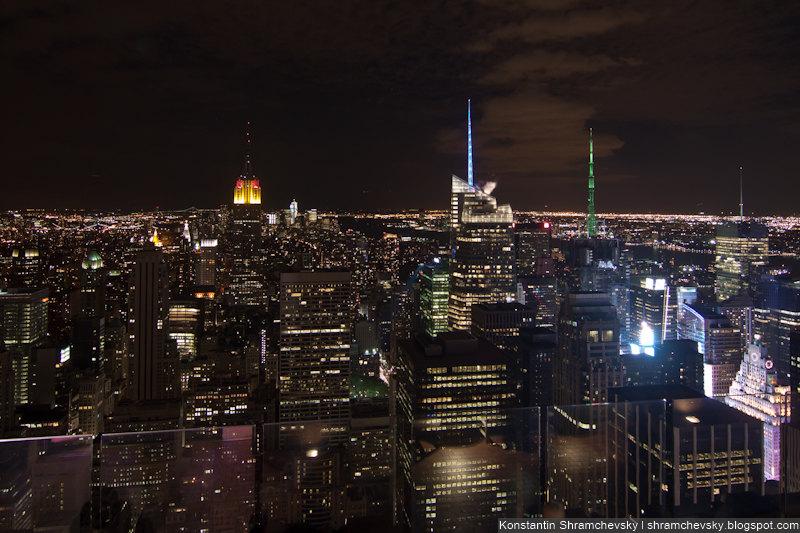 USA New York Manhattan Top of the Rocks Rockefeller Center Observation Deck США Нью Йорк Топ оф зе Рокс Рокфеллер Центр Обзорная Площадка