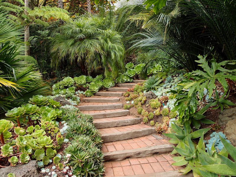 Good Brick Garden Path On A Gentle Slope