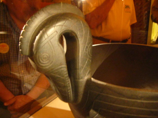 Archaelogic treasure - the Duck Bowl - on loan from Smithsonian (Russell Whigham photo)