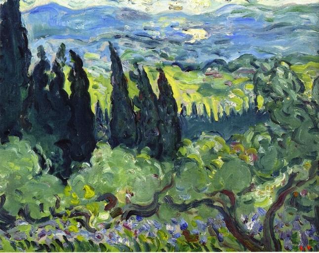 Louis Valtat - Italian Landscape, Cypresses
