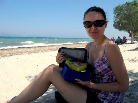plaża Tigaki Kos - koszyk piknikowy