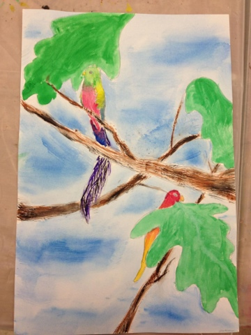 The Helpful Art Teacher On Painting Birds
