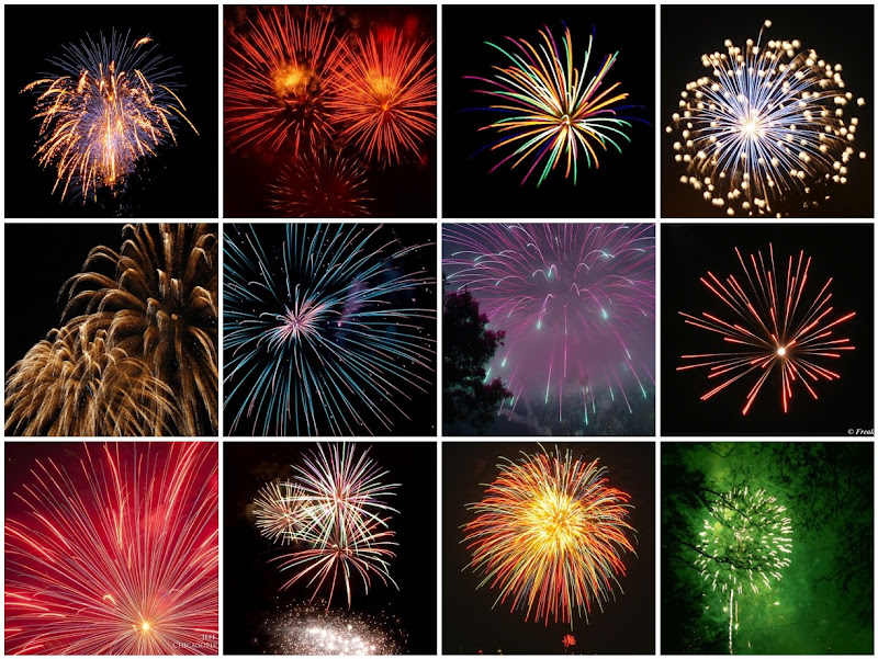 Fireworks Photo Collage