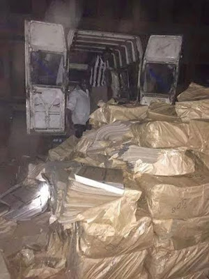The the game begin: police intercepts Bus full of printed ballot papers in Niger state