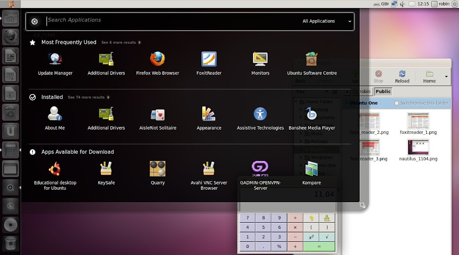Unity 11.04 Linus Desktop