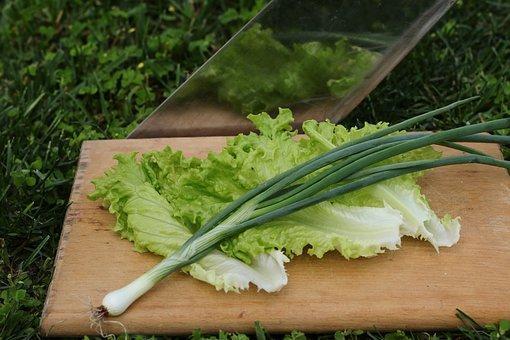 Vegetables, Lettuce, Scallion