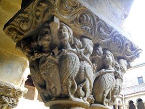 Романская резьба по камню 11 века в монастыре Санто Доминго де Силос