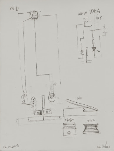 idea is to fix volume pedal way that i can us it with guitar  trying to  figure out how old scheme works
