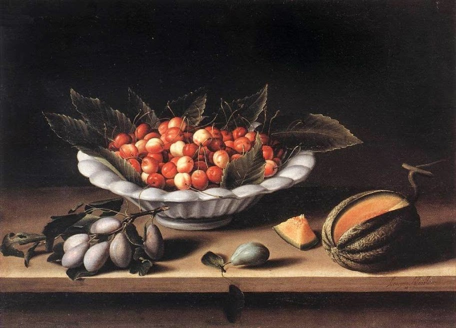 Louise Moillon - Cup of Cherries and Melon