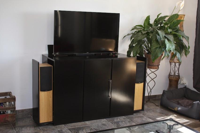 meuble tv motorise diy. Black Bedroom Furniture Sets. Home Design Ideas