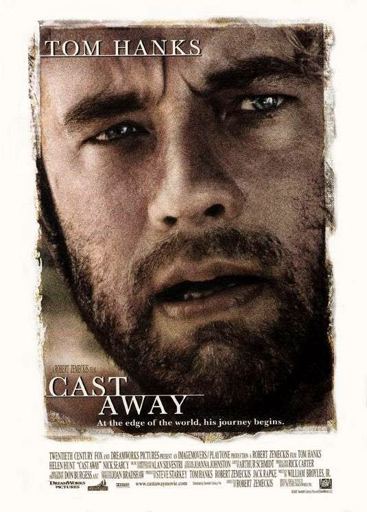 Poster Of Cast Away (2000) Full Movie Hindi Dubbed Free Download Watch Online At Alldownloads4u.Com