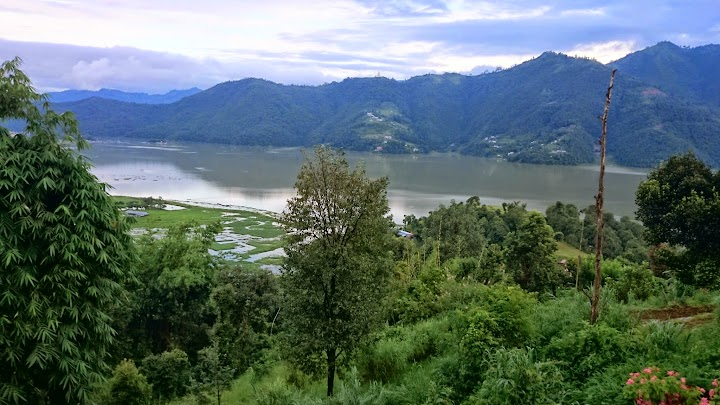 The view of Phewa Lake from The Hidden Paradise Guest House