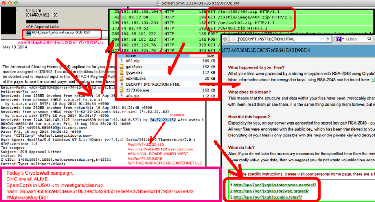 Cryptowall (alias Crowti) - KernelMode info