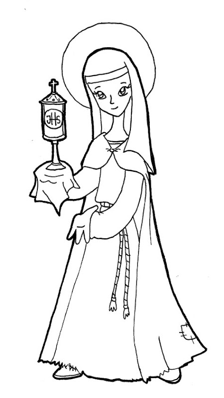 Saint clare of assisi coloring pages