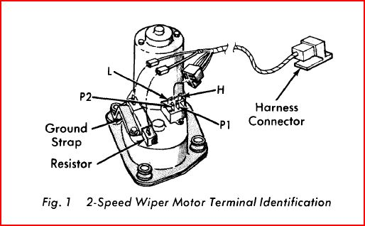 wiper motor wiring and resistor