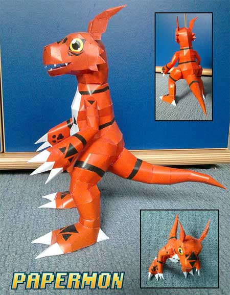 Digimon Guilmon Papercraft