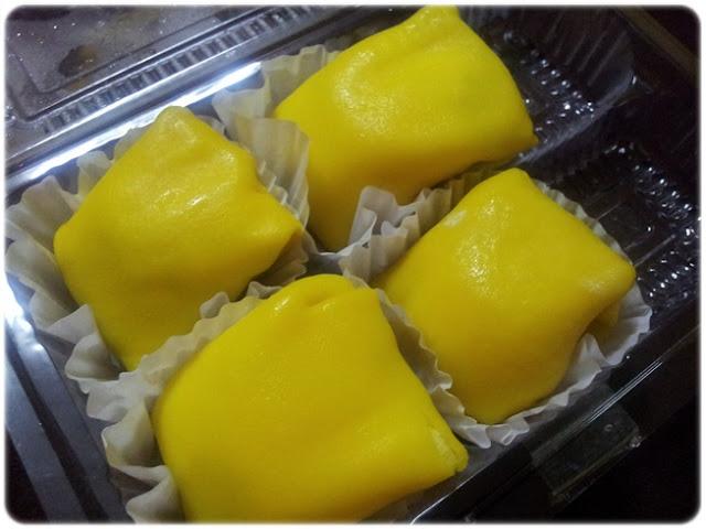 durian crepe sedap, durian crepe kuning, durian crepe best