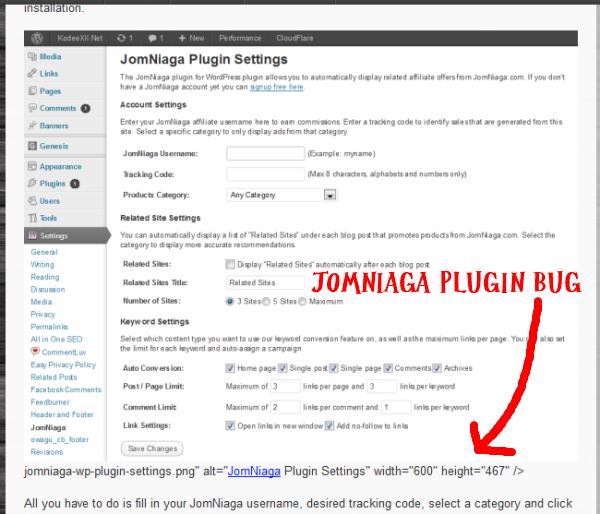 JN Plugin Bug